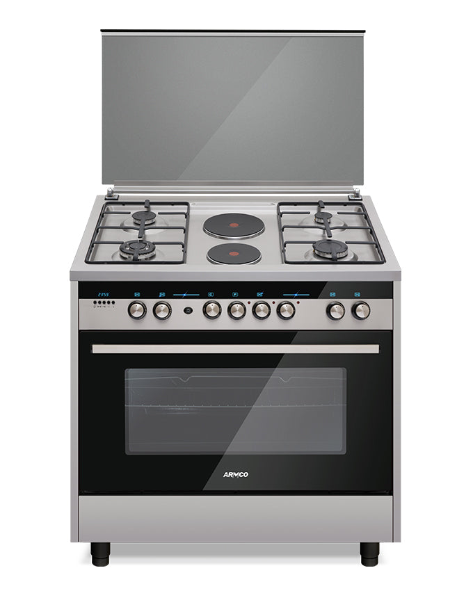 GC-F9642PLW(SS) - 4Gas, 2Electric, 60x90 Gas Cooker - Stainless Steel