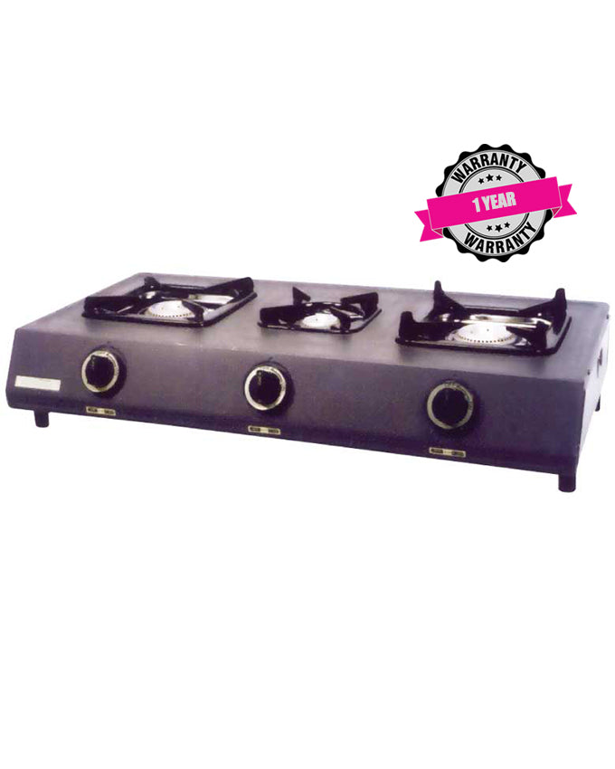 ARMCO GC-8310FP - 3 Burner (1 WOK) Fluorine Coated Tabletop Gas Cooker.
