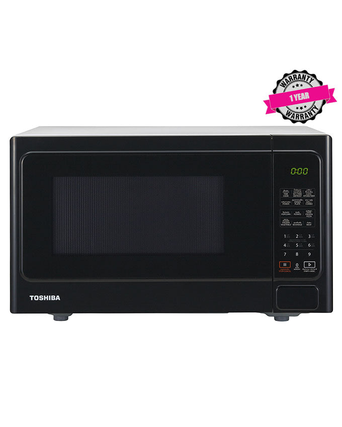 TOSHIBA MM-EG25P(BK) - 25L Digital Microwave Oven, 900W, Grill Power 1000W - Black