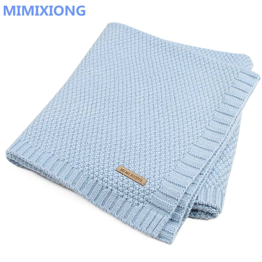 Baby Blanket Knitted Newborn Swaddle Wrap Blankets Super Soft