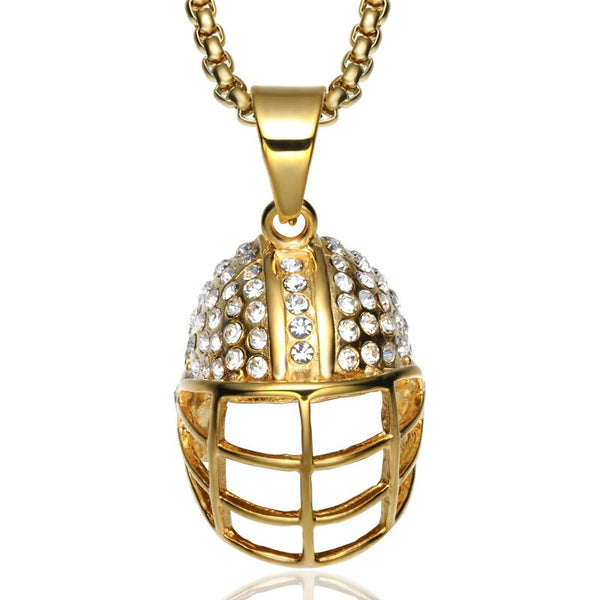 Rugby Hat Pendant Necklace For Rugby Players made of high quality!
