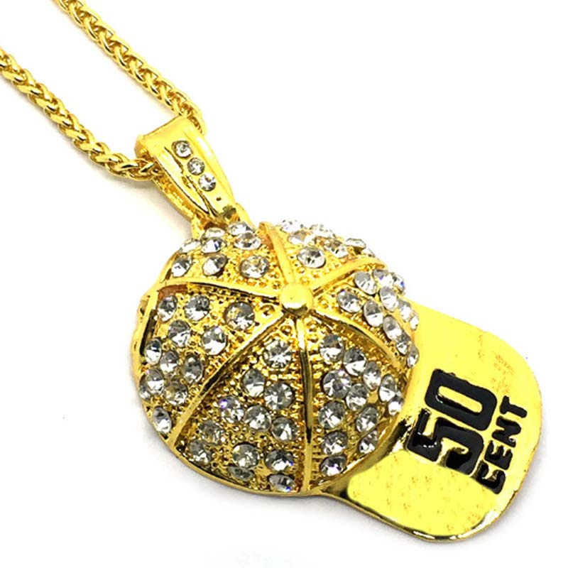 50 Cent Cap Pendant Necklace Awesome Gift