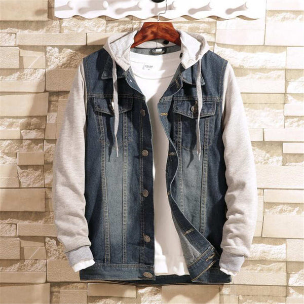 Spring New Fashion Hooded Casual Stitching Long-sleeved Jacket