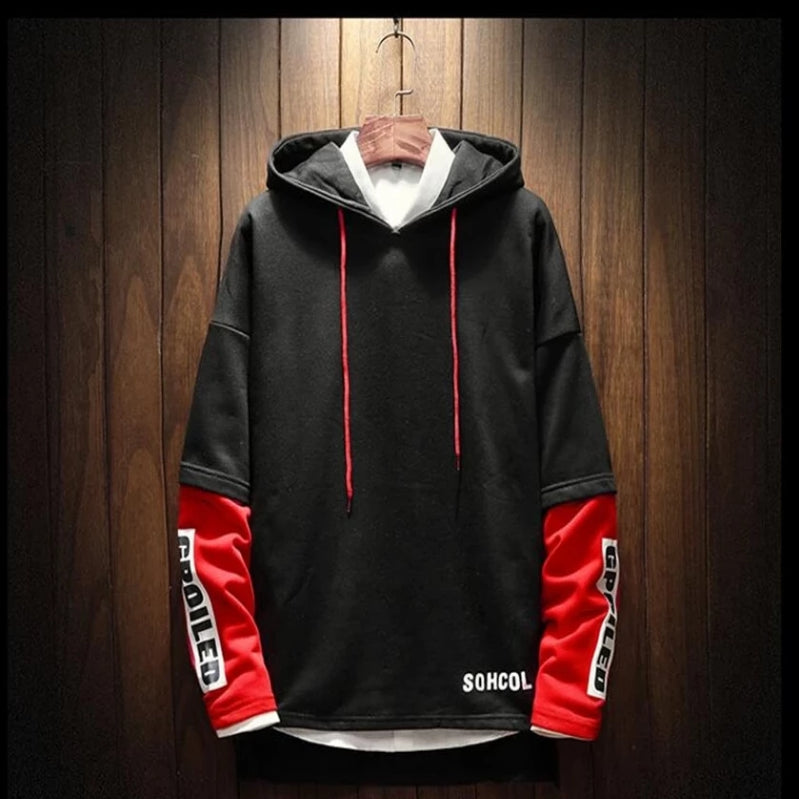 New Fashion Two-piece Stitching Long-sleeved Hoodies