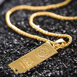 New Gold Plate Pendant Necklace