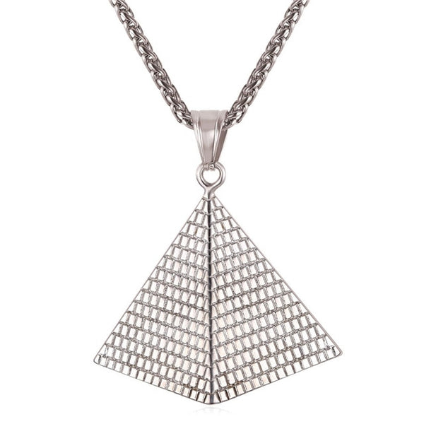Egyptian Pyramid Pendant With Chain