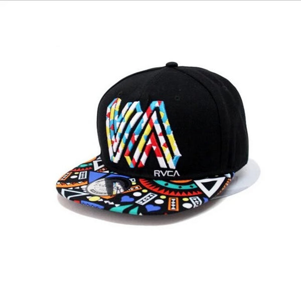 Unique personality color graffiti Snapback Caps Flat Brim