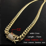 Miami Link Chain Necklace 76CM