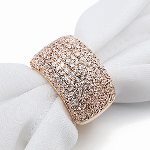 Crystal Ring for Women Silver/Rose/Gold Color