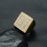 Big Square Ring Iced Out Great Shape