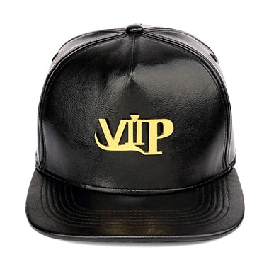 New Gold VIP Baseball Leather Hat
