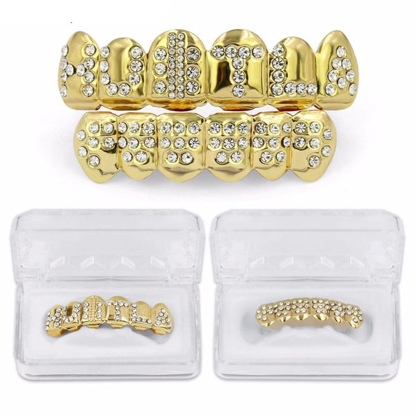 Classoic Hip Hop Teeth GRILLZ Caps Top & Bottom