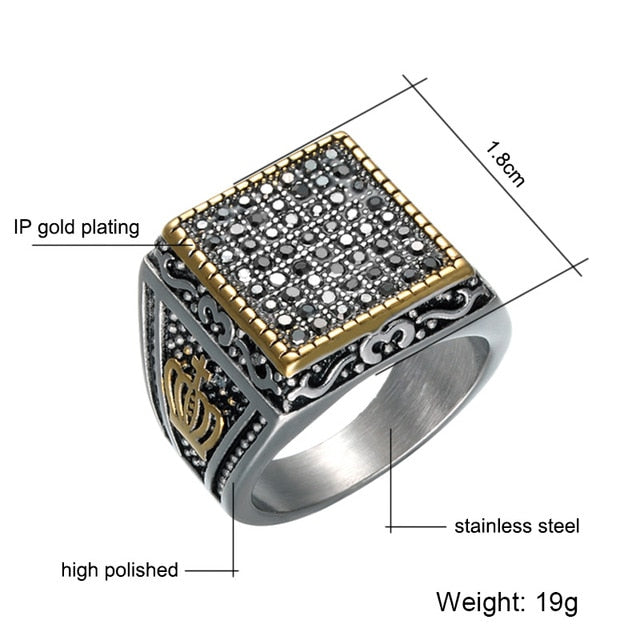 Crystal Ring for Men