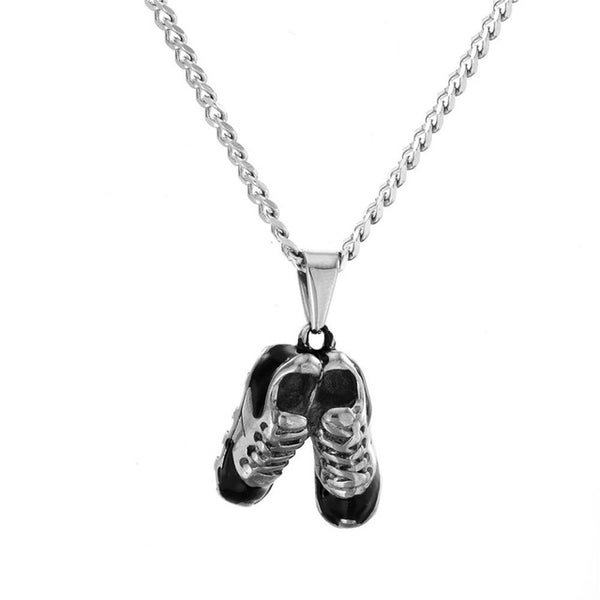 Sneakers Sports Shoes Pendant Gold Palted
