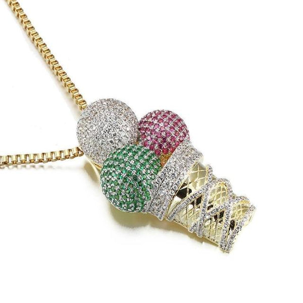 Ice Cream Necklaces Bling Bling