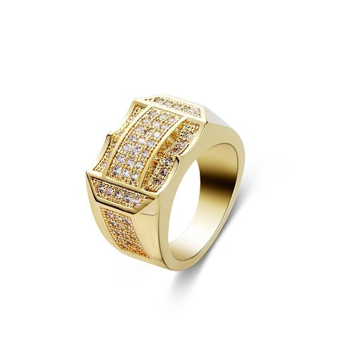Full Crystal Rhinestone Cubic Zirconia Gold Silver Plated