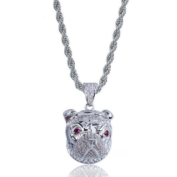 Bulldog Pendant Necklace
