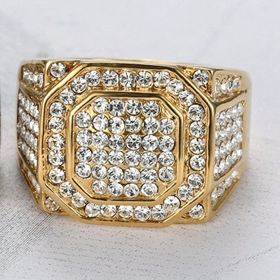 Iced Out Ring With Crystal stones