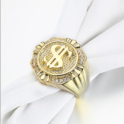 Dollars Mark Ring For Men Nice Gift