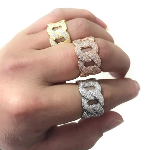 unique hip hop bling bling design mens ring