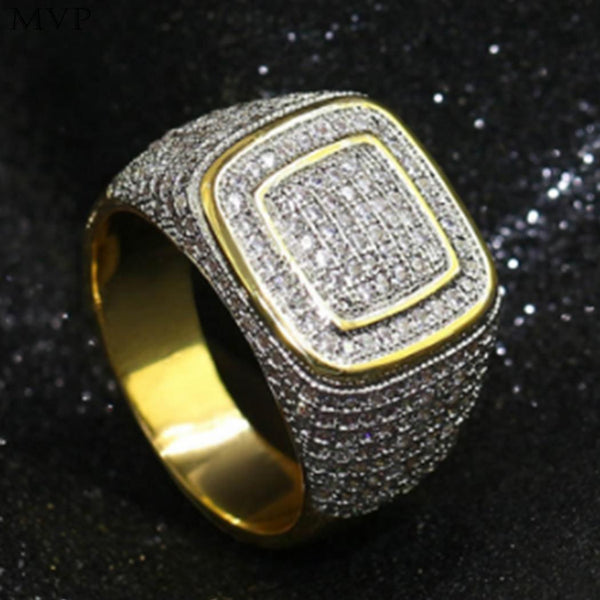 Iced Out Ring Stainless Steel For Men