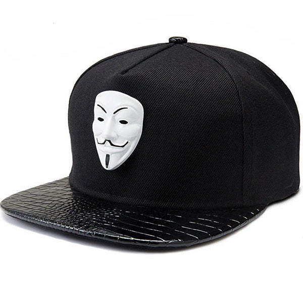 Punk Snapback Caps V For Vendetta Flat Brim Street Bboy And Rapper