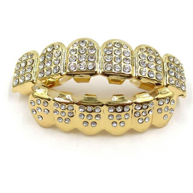 Hot Style Dental Hiphop Teeth Grillz with Rhinestone