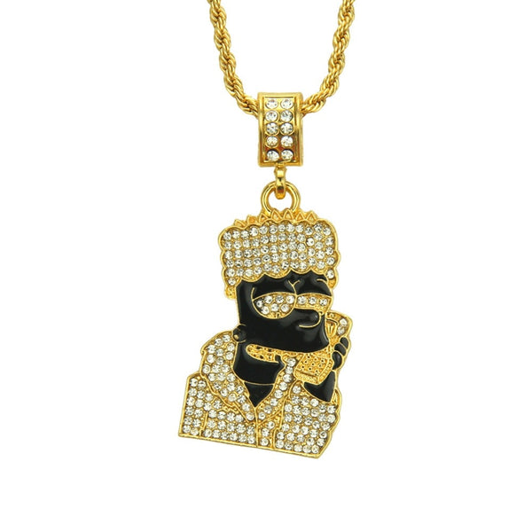 Cartoon Pendent Hip Hop Necklace Gift for Christmas