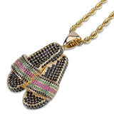 Slippers Sandals Pendant Gold Necklaces