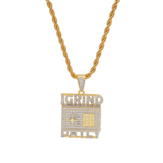 Custom Necklace Hip Hop Full Iced Out