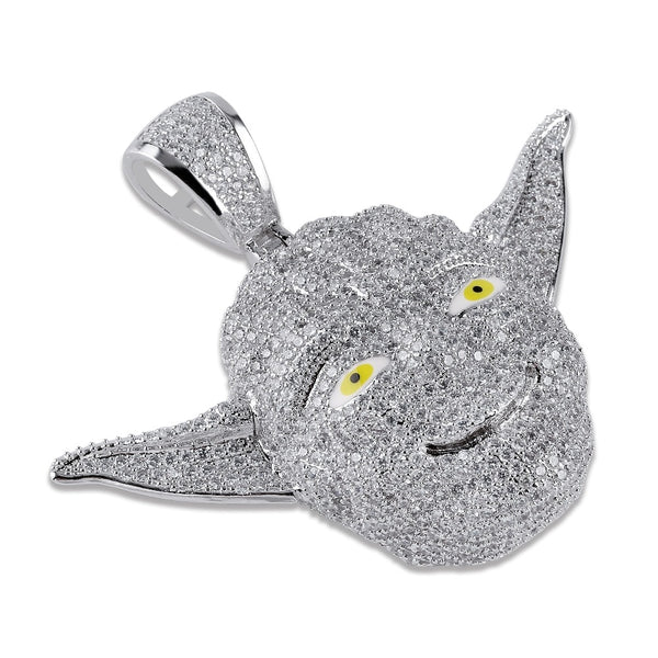 Master Yoda Pendant Necklace Iced Out CZ Chains