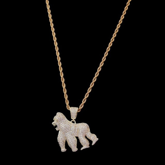 Custom Gorilla Mold Necklace New Arrival
