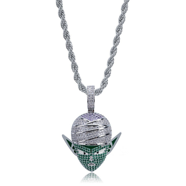 Dragon Ball Piccolo Character Pendant Necklace Iced Out