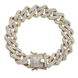 Iced Out Cubic Zircon Miami Curb Cuban Link Chain Bracelet