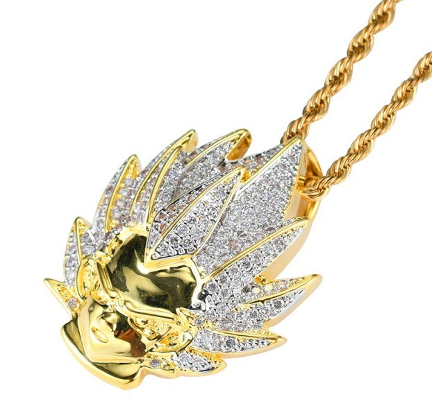 Dragon Ball Anime Character Pendant With Gold Chain