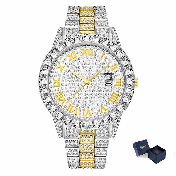 Top Men's Watch 2019 Gold Big Diamond