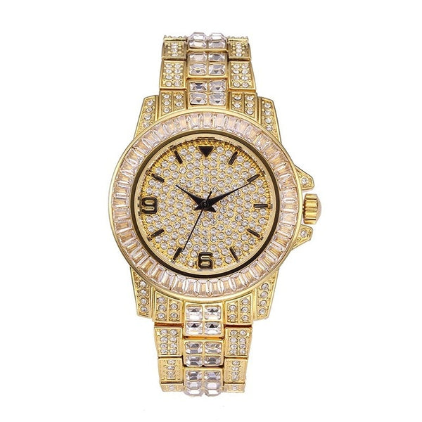 Luxury Man Watch 18K Gold Waterproof Quartz Wristwatch