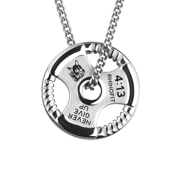 Gym Weight Plate Pendant Necklace