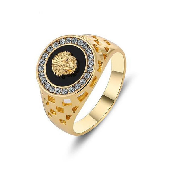 Hot Design Avatar Ring Hollow Lion Head