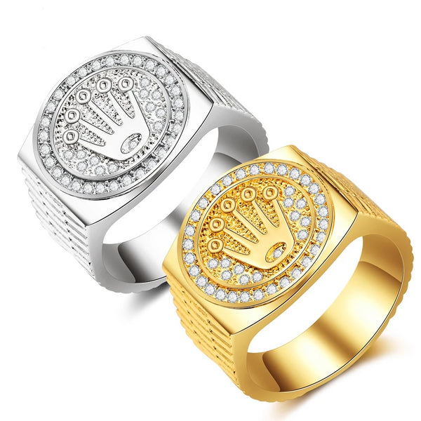 New Fashion Gold & Silver Crown Ring