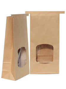 Kraft window bakery treat bags