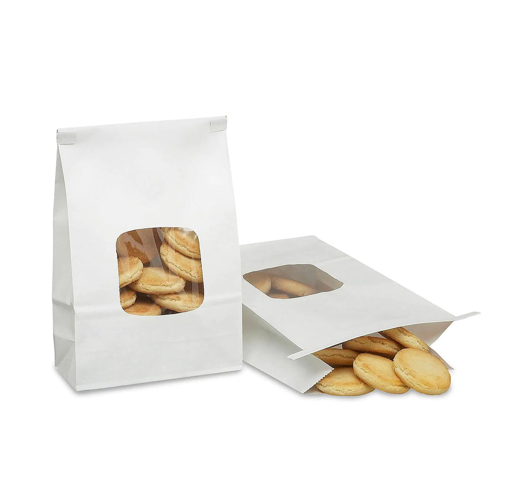 White window bakery treat bags