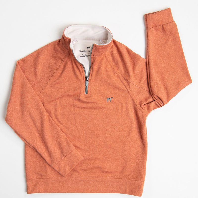 Youth Burnt Orange Wellington Pullover