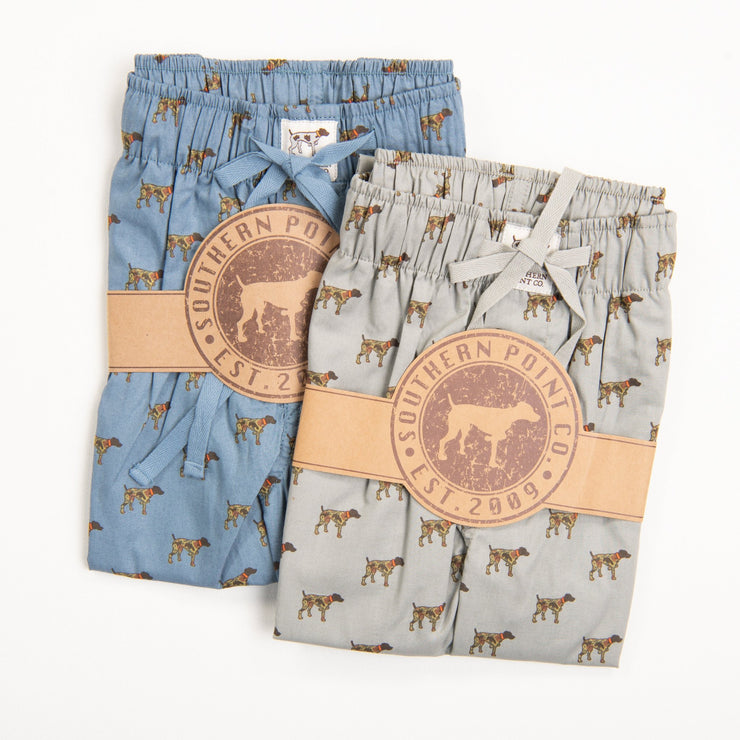 Youth Grey Camo Dog Lounge Pants