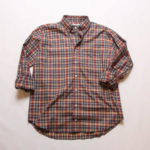 Youth Gunmetal & Crimson Plaid