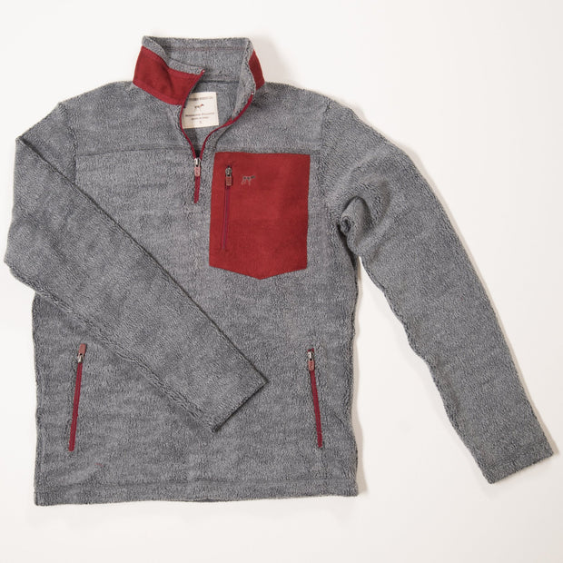 Grey & Red Bennington Pocket