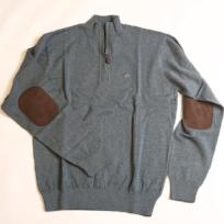 Bluestone Hayward Quarter Zip with Elbow Patches