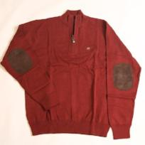Sangria Hayward Quarter Zip with Elbow Patches