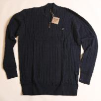 Navy Cable Knit Hayward Quarter Zip