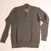 Grey Cable Knit Hayward Quarter Zip